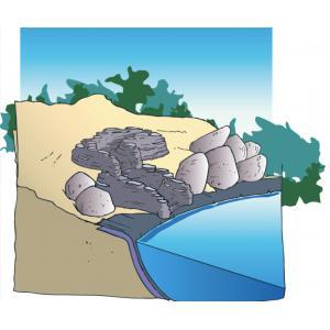 Standaard groot recht waterval
